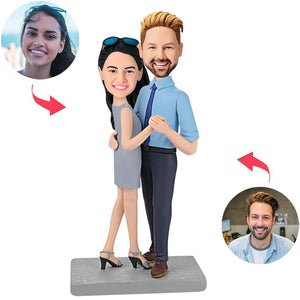 Happy Dancing Couple Custom Bobblehead