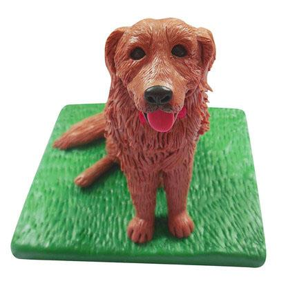 Golden retriever Pet Custom Bobblehead With Engraved Text