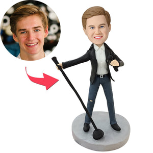Lead Singer Custom Bobblehead With Engraved Text