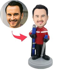 Male Skiier Custom Bobblehead