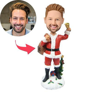 Christmas Gift Man Custom Bobblehead With Engraved Text