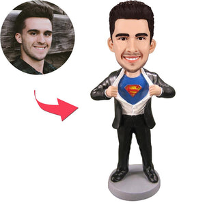 Superman Strip - D Popular Custom Bobblehead With Engraved Text