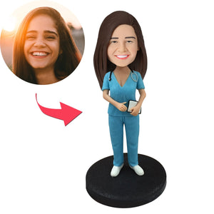 Female Nurse Custom Bobblehead