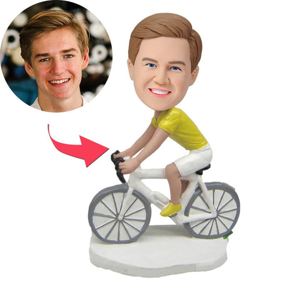 Biker Ride A Bike Custom Bobblehead