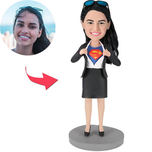 Office Superwoman -A Popular Custom Bobblehead