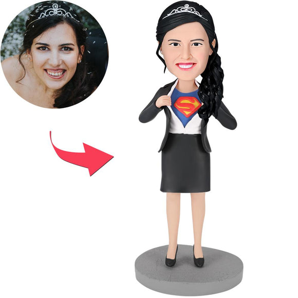 Office Superwoman - D Popular Custom Bobblehead