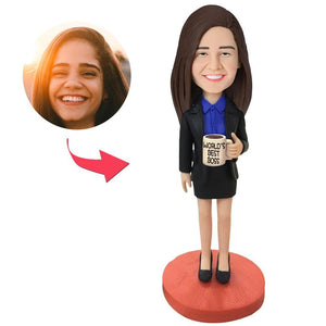 Female Boss Custom Bobblehead