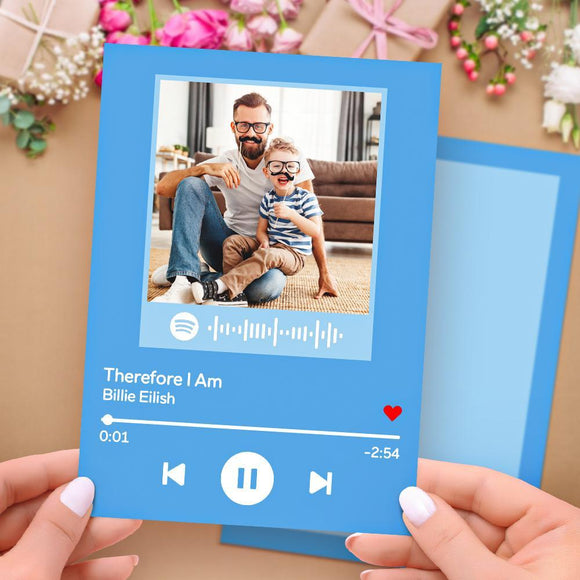 Custom Spotify Code Music Cards Scannable Greeting Cards Gifts