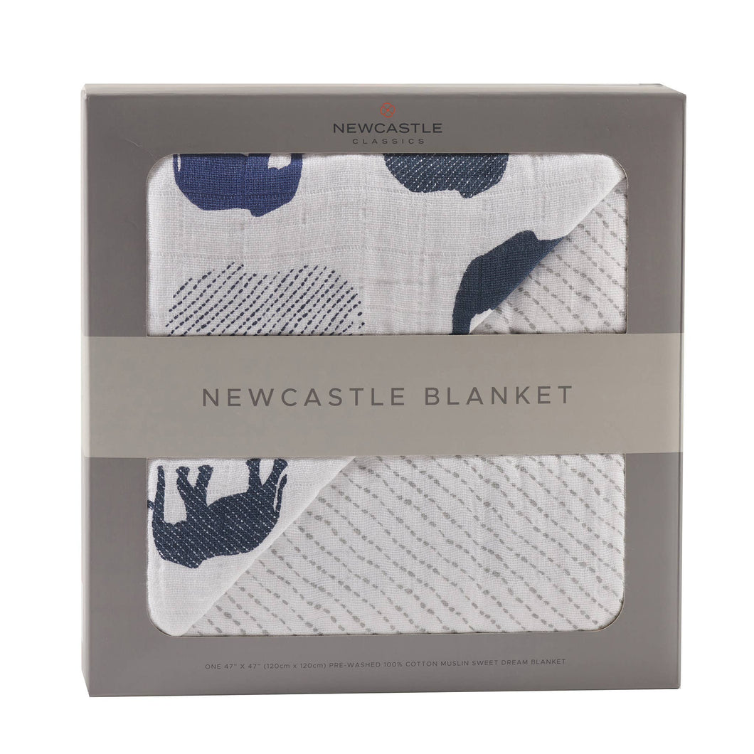 Newcastle Classics - Blue Elephant and Spotted Wave Newcastle Blanket