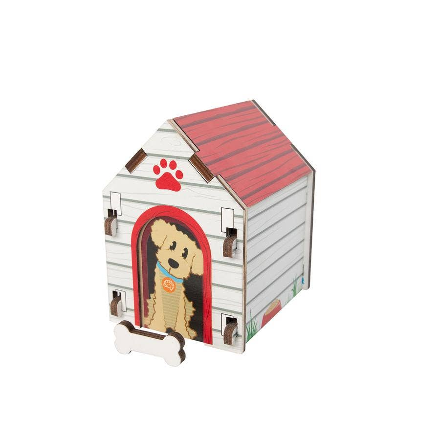 Dog House Blueprint Puzzle