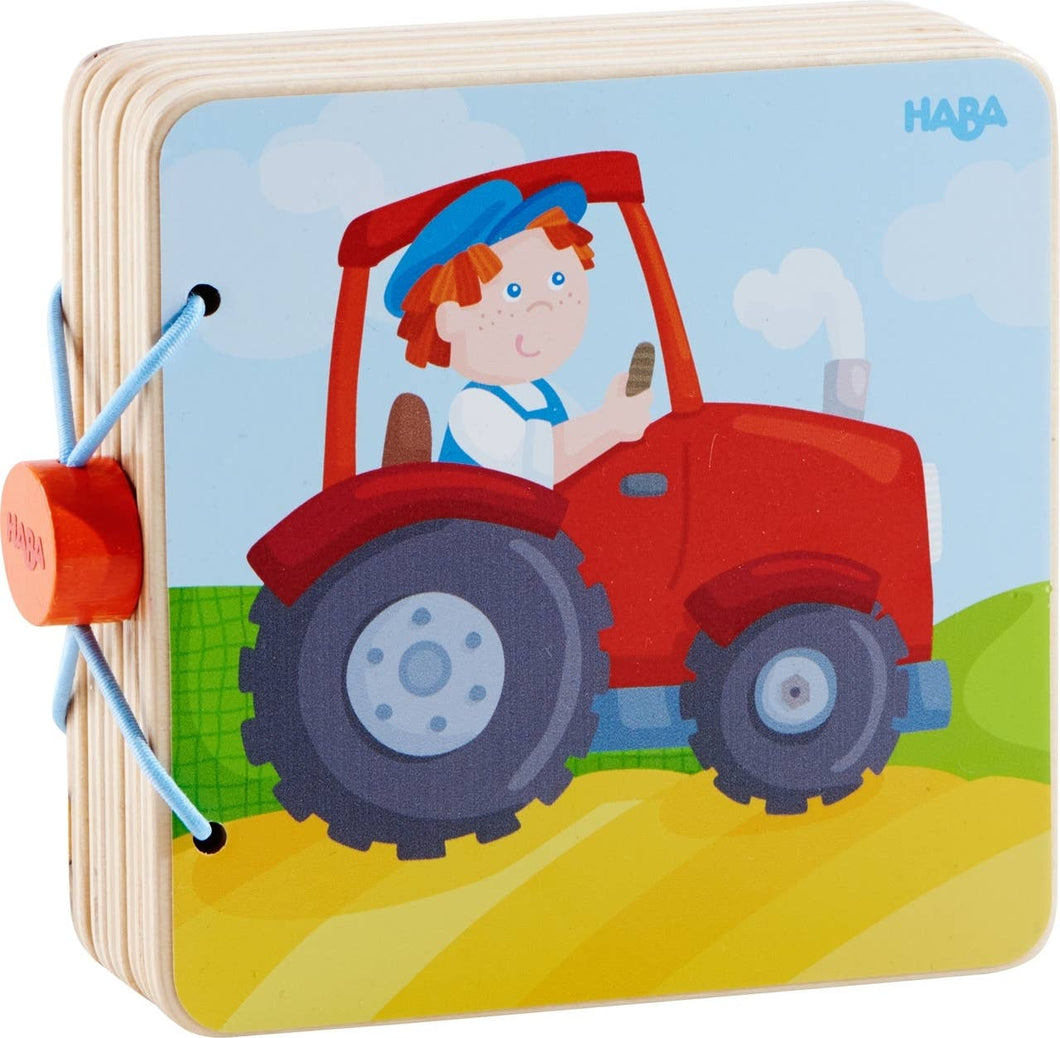 HABA - Wooden Baby Book Tractor