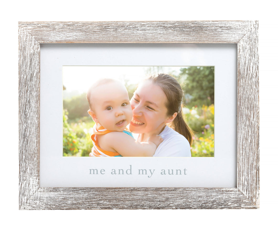 Pearhead - Me and My Aunt Sentiment Frame, Rustic