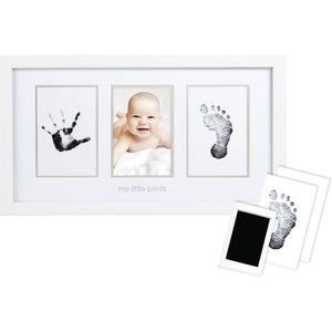 Pearhead - Babyprints Photo Wall Frame and Clean-Touch Ink Kit, White