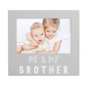 Pearhead - Me and My Brother Sentiment Frame, Gray