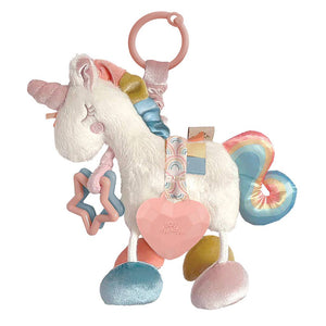 Itzy Ritzy - NEW Link & Love™ Unicorn Activity Plush Silicone Teether Toy