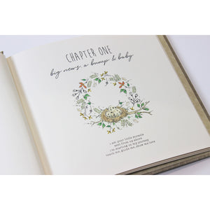Floral Fox Baby Book