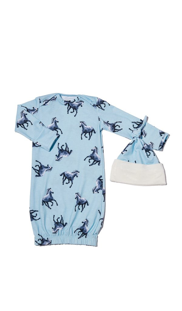 Horse Gown 2-piece 0-3M