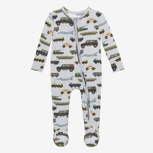 Cash Zippered Onesie