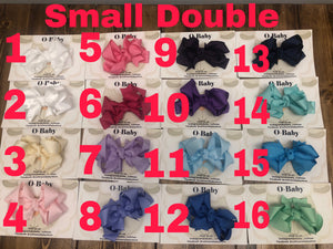 Small Double loop grosgrain bow