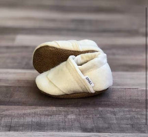 Trendy Baby Mocc Shop - Cream Felt Loafers