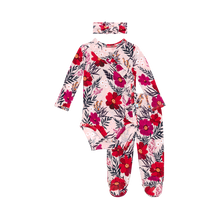 Load image into Gallery viewer, Posh Peanut Fall 2020 Kimono Footie Pants and Hat/Headband