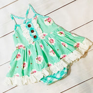 Mint Bubble Dress