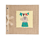 Elephant Lime Baby Memory Book