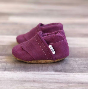 Deep Purple Felt Loafers