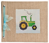 Tractor Baby Memory Book