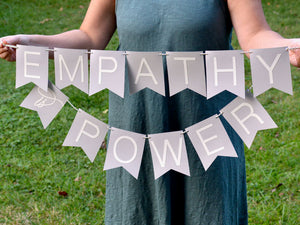 Social Justice Banner, Empathy is Power - Free Shipping