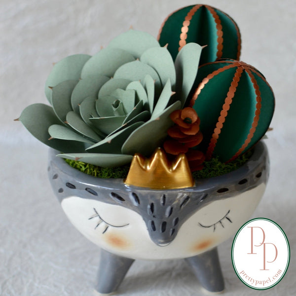 Woodland Friend Paper Succulent Garden - Free Shipping