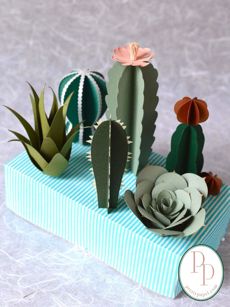 6 life like paper succulents to choose from and build your own paper succulent arrangement.