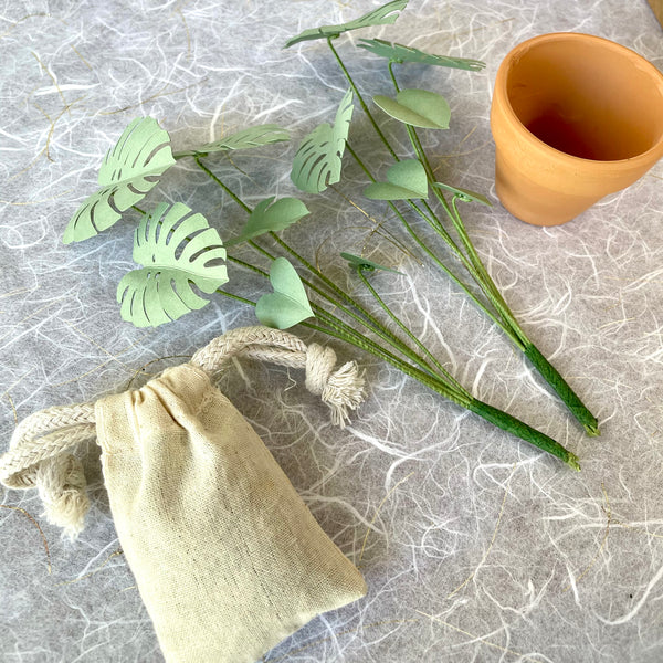 Petite Paper House Plant - Monstera