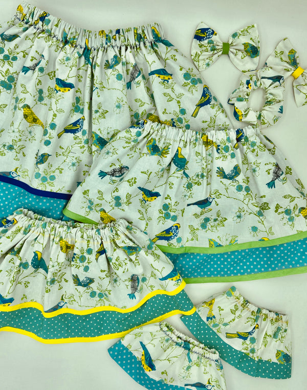 Pretty Birds Doll Skirt