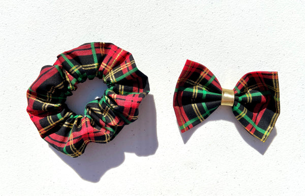 Black Christmas Plaid Hair Accessory