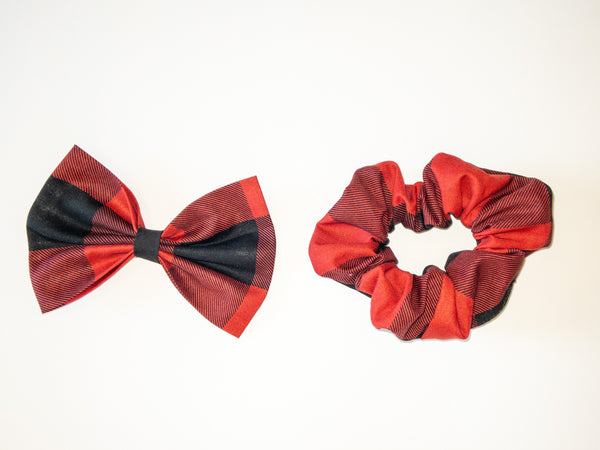 Buffalo Plaid Hair Accessories