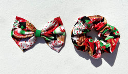 Christmas Cupcake Hair Accessories