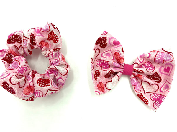 Pink Valentine Heart Hair Accessory