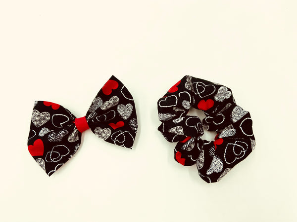 Chalkboard Hearts Hair Accessories
