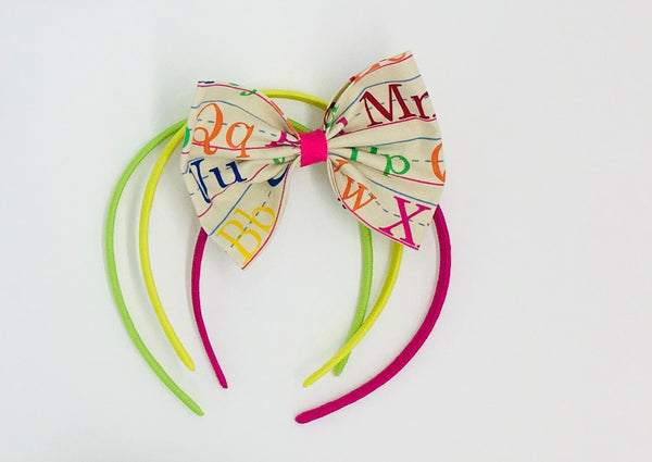 ABC Hair Bow