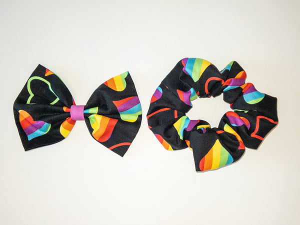 Rainbow Hearts Hair Accessories