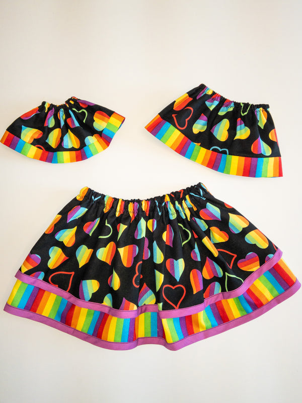 Rainbow Heart Skirt