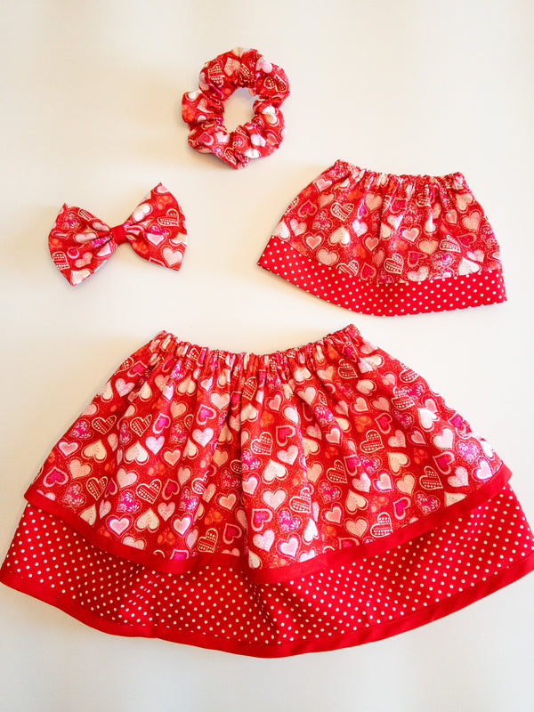 Red Hearts Hair Accessories