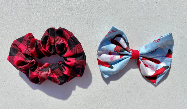 🎅🏼  Santa Plaid Hair Accessories 🎅🏼