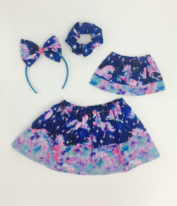 Blue Unicorn Doll Skirt