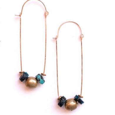 Earrings - Terci - turquoise