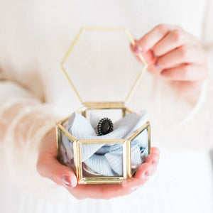Mini Hexagon  Ring Box Jewelry