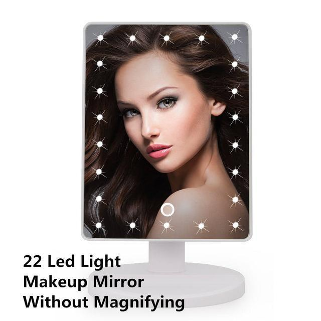 Quality Topia LLC 22LED Black LED Touch Screen Makeup Mirror