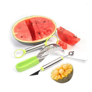 Quality Topia LLC 3-in-1 Stainless Steel Fruit Slicer