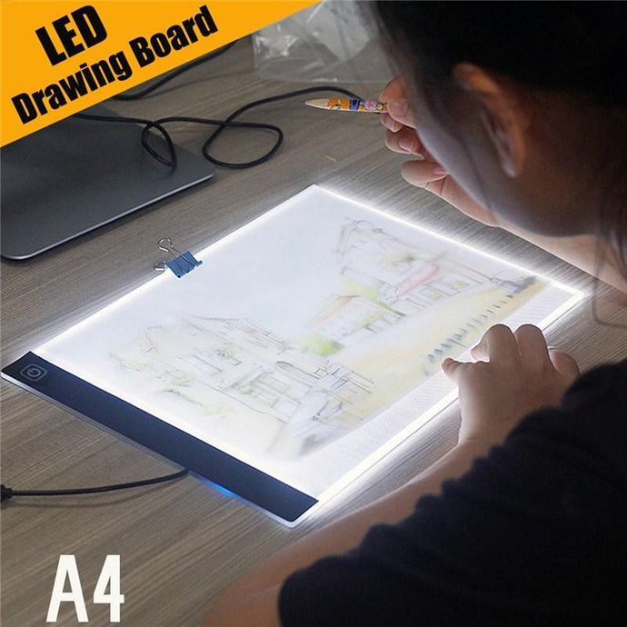 Quality Topia LLC A4 Dimmable Pad Led Tablet Drawing Light Box Board
